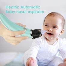 Baby Nasal Aspirator Electric Safe Hygienic Nose Cleaner Soft Ergonomic Anti-reflux Boy Girls Oral Snot Sucker(China)
