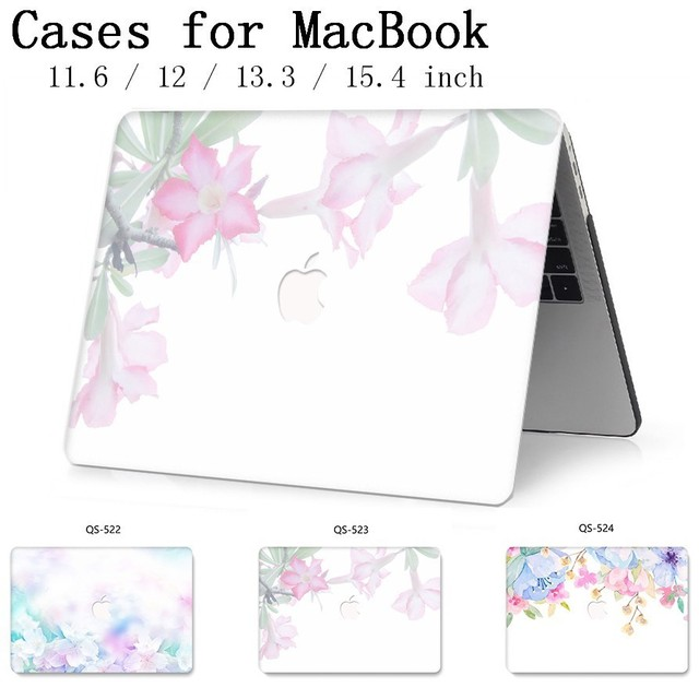 Laptop Case For New MacBook 13.3 15.4 Inch For MacBook Air Pro Retina 11 12 13 15 With Screen Protector Keyboard Cove Apple Case