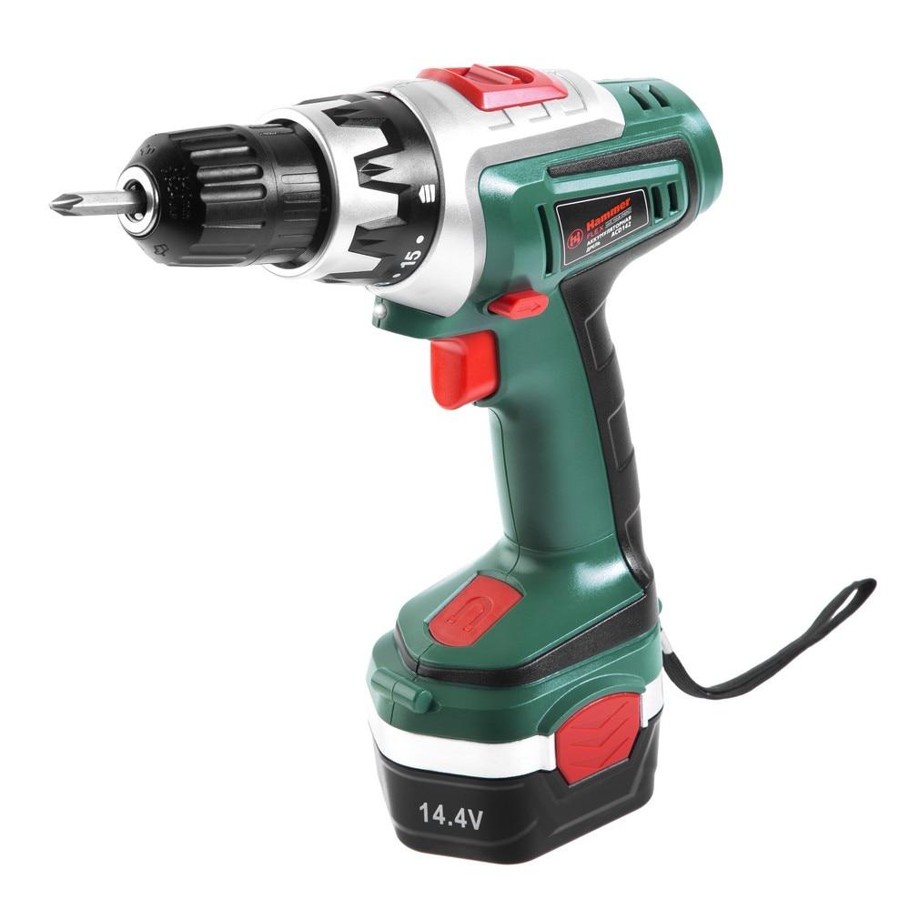 Akkumulator drill Hammer Flex ACD142 14 4V 2x1 2Ah 10mm 0400 01200 rpm 18Nm in a case hammer acd142