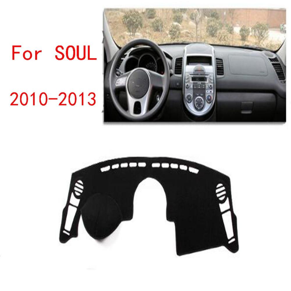 Dongzhen Fit para KIA SOUL 2010-2013 Auto cubierta del salpicadero del coche evitar almohadilla de luz instrumento plataforma tablero cubierta mat