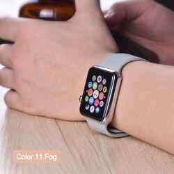 ProBefit soft Silicone 스포츠 Band 대 한 Apple Watch 4 3 2 1 38 MM 42 MM 묶을때 해도 고무 줄을 감시 끈 대 한 Iwatch series 4 40mm 44mm