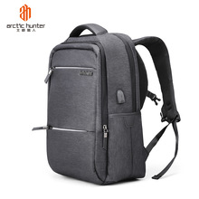 Arctic Hunter 24L Mens 18 inch Large Size Laptop Backpacks USB Charging Casual Waterproof Male Travel Bags Student School Bag