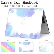 Чехол для ноутбука Новый для MacBook 13,3 15,4 дюймов для MacBook Air Pro retina 11 12 13 15 с защитой экрана клавиатуры Чехол для Apple