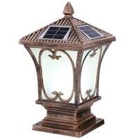 Лампа пост проектор сад светодиоды на солнечной батарее светильник Exterieur Terraza Y Jardin Decoracion открытый прожектор световой столб