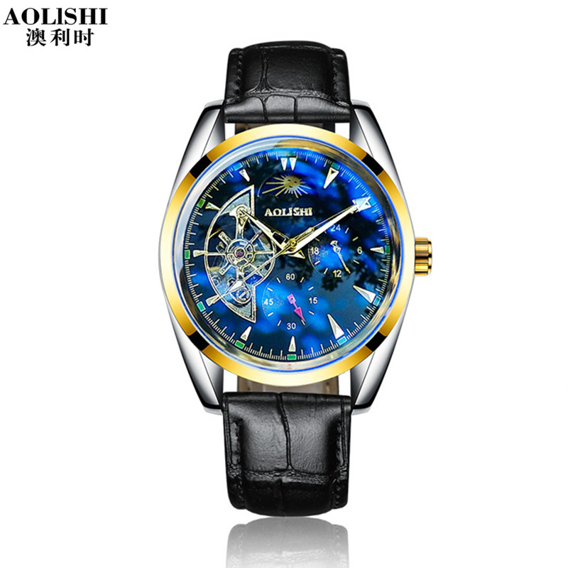 Men Mechanical Watch AOLISHI Luxury Brands Fashion Timed Movement Watch Men Wristwatch Leather Stainless Steel Clock RelogioMen Mechanical Watch AOLISHI Luxury Brands Fashion Timed Movement Watch Men Wristwatch Leather Stainless Steel Clock Relogio