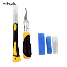 цена на Blades Carving Wood DIY Engraving Chisel Sculptural Woodworking Cutting PCB Circuit Board Repair New Paper Cutter 1Pcs