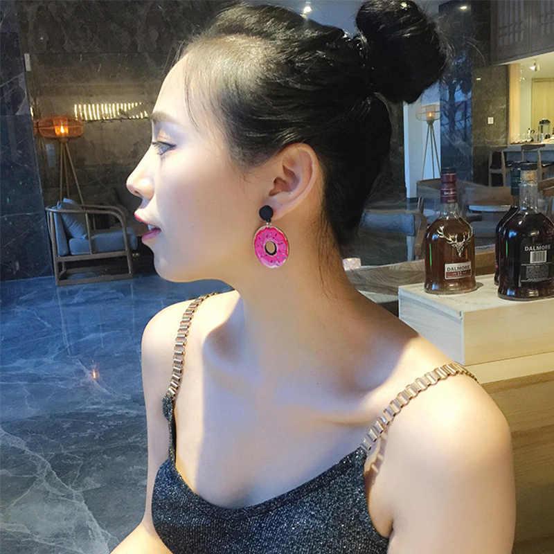 販売アクリルスイカのアイスクリーム耳スタッドビッグイヤリング女性シックなフルーツファッション女の子イヤリング