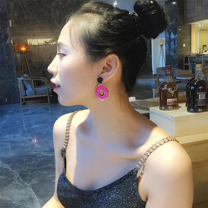 Dijual Akrilik Semangka Es Krim Telinga Stud Anting-Anting Besar untuk Wanita Chic Buah Fashion Gadis Anting-Anting