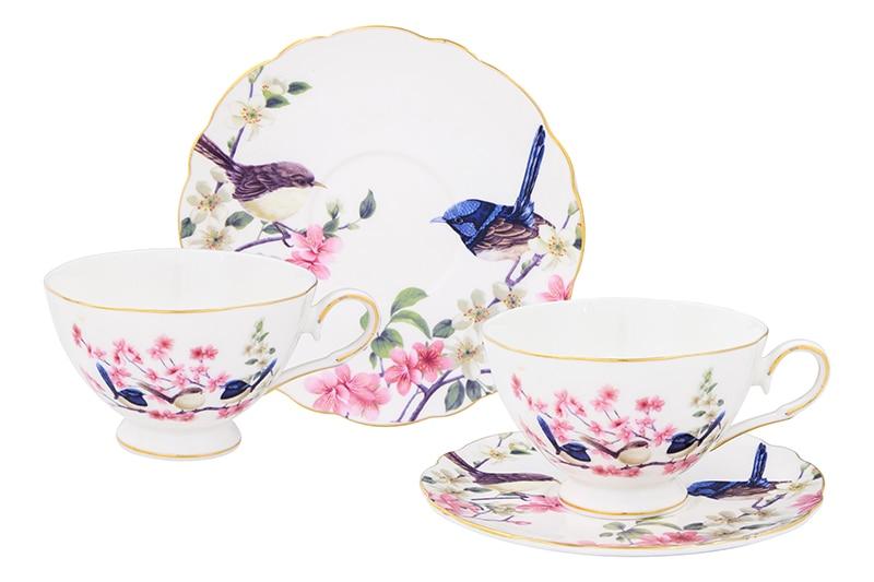Available from 10.11Tea pair Paradise birds 4 items Elan Gallery 420024