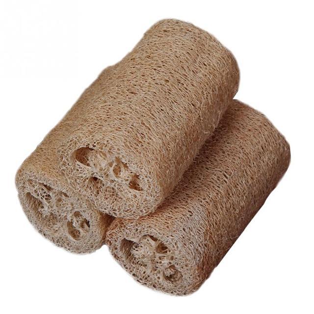 3 pz/set Natural Loofah Luffa Bagno Scrub Corpo Della Spazzola Cura Della Pelle