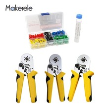 Makerele Crimping Pliers Tool Self-adjustable MKHSC8 Electric Tube Terminals Mini Box Sets E2508 300pcs Pen Soldering Wire 10G