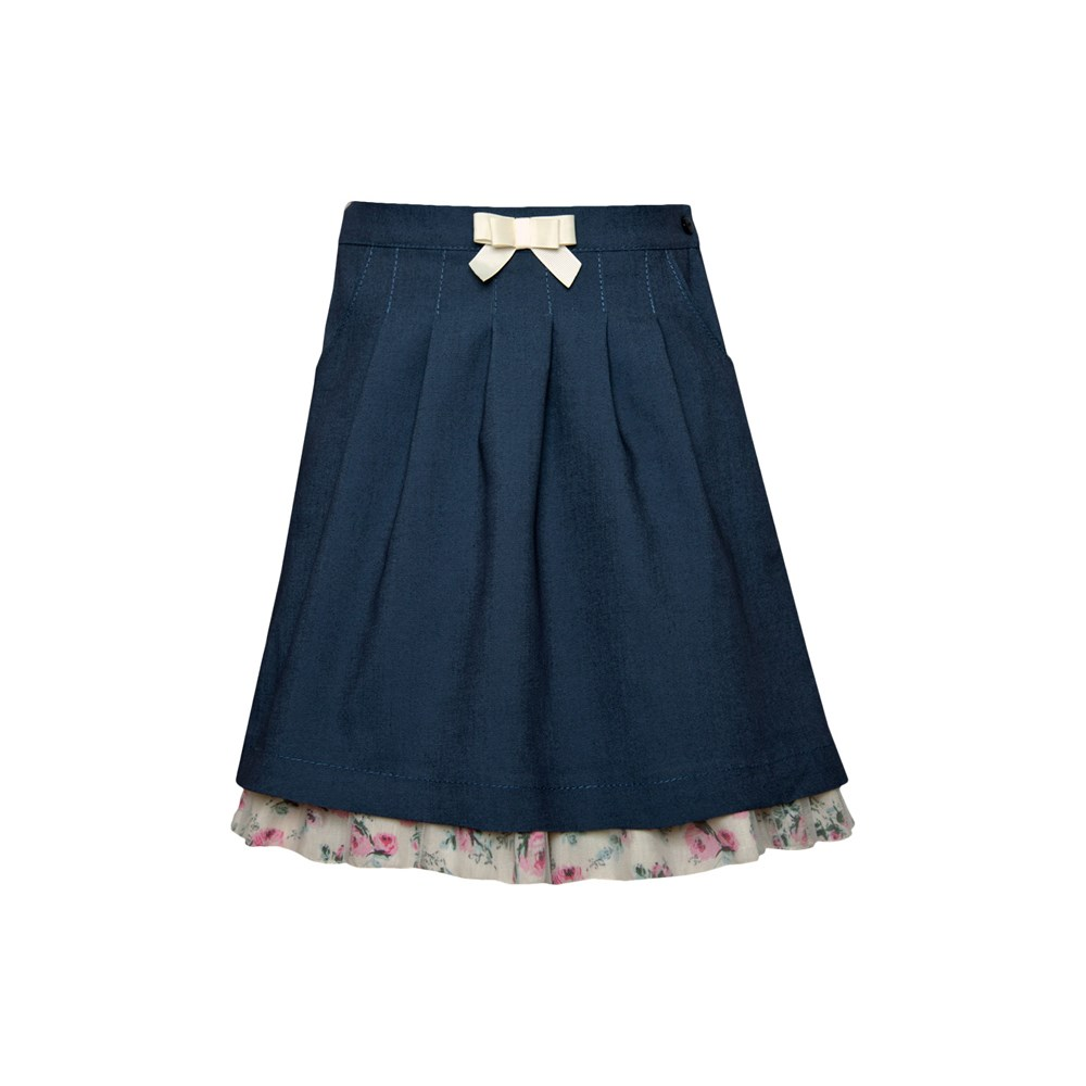 Pleated skirt Lady M solid pleated skirt