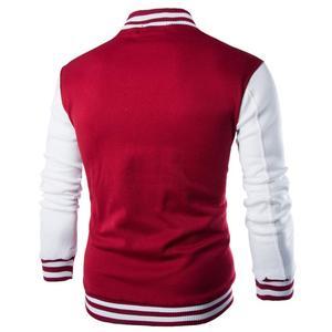 Image 3 - New Men/Boy Baseball Jacket Men 2019 Fashion Design Wine Red Mens Slim Fit College Varsity Jacket Men Brand Stylish Veste Homme