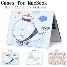 新しいノートブックスリーブホット Macbook Air Pro の網膜 11 12 13 15.4 13.3 インチスクリーンプロテクターキーボード入り江ラップトップのためのケース