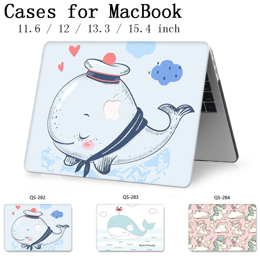 New Notebook Sleeve Hot For MacBook Air Pro Retina 11 12 13 15.4 13.3 Inch With Screen Protector Keyboard Cove For Laptop Case-in Laptop Bags & Cases from Computer & Office
