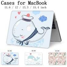 Nuevo cuaderno caliente para MacBook Air, Pro Retina, 11 12 13 15,4 de 13,3 pulgadas con pantalla Protector de teclado Cove para ordenador portátil caso