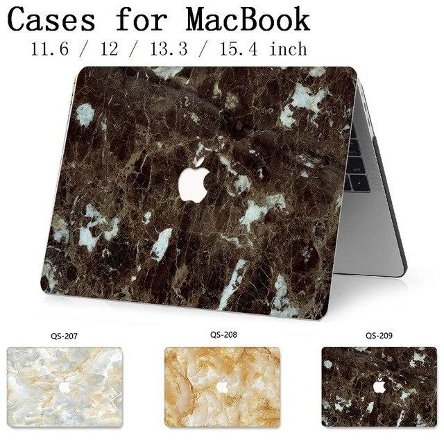 Funda para ordenador portátil para MacBook 13,3 de 15,4 pulgadas para Retina MacBook Air Pro 11 12 con teclado Protector de pantalla cove