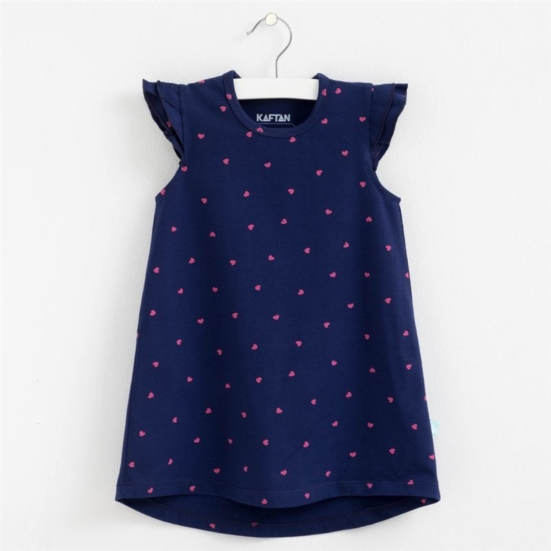 Dress heart blue heart print dress