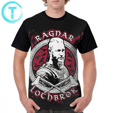 Vikings Ragnar T Shirt Ragnar Lothbrok - King T-Shirt Awesome 100 Polyester Graphic Tee Shirt Graphic Men Plus size  Summer Tshirt недорого