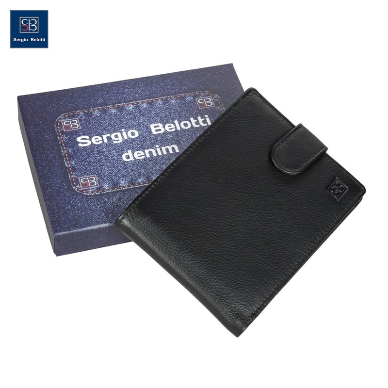 Coin Purse Sergio Belotti 533-02 denim black new fashion purse wallet female famous brand card holders cellphone pocket gifts for women money bag clutch coin purse ladies