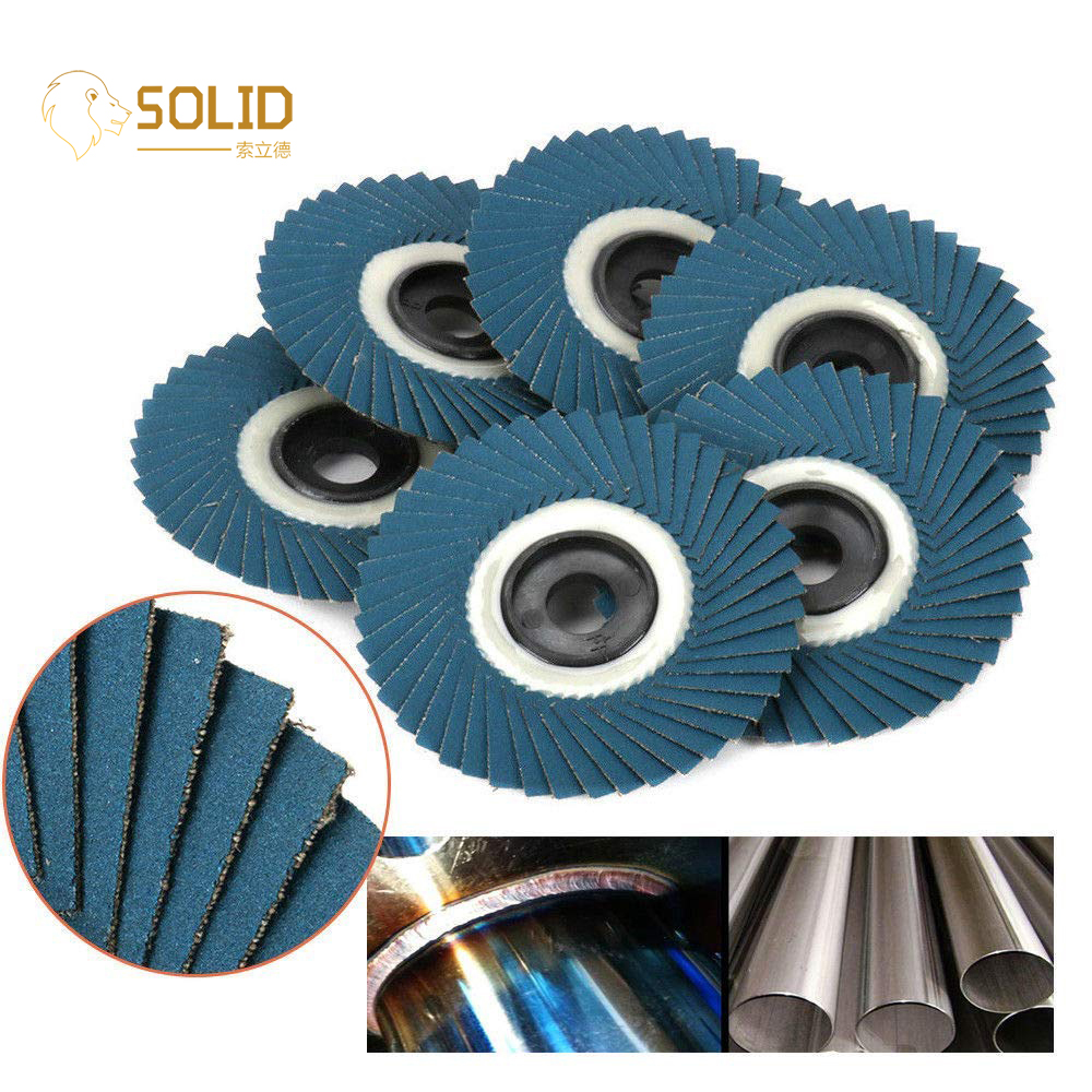 10Pcs 4 Inch Flap Disc Grinding Wheels With 5/8