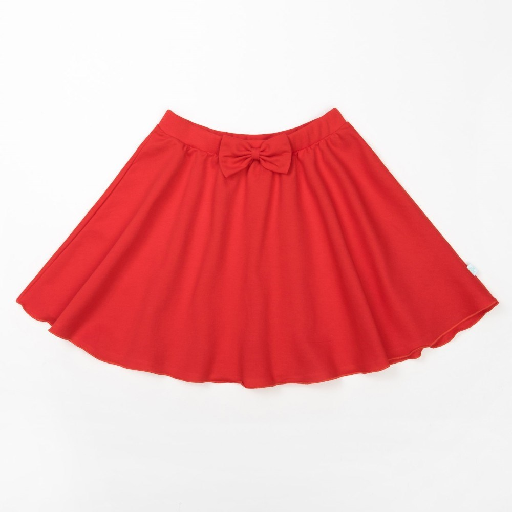 Skirt Red 5 10 years. 100% cotton flower print box pleated skirt