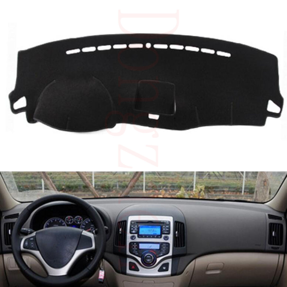 Dongzhen Fit For HYUNDAI I30 2009 To 2016 Car Dashboard Cover Avoid Light Pad Instrument Platform Dash Board Cover