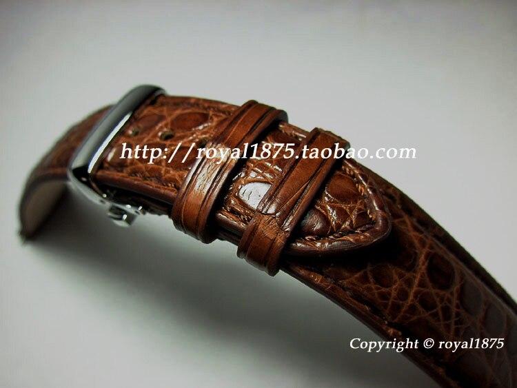 Main De Luxe 18 19 20 21 22mm réel crocodile en cuir bretelles papillon boucle haut de gamme Bracelet bracelet pour homme de marque montre
