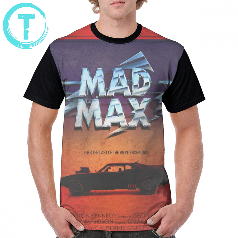 Mad Max T Shirt The Last Of The <font><b>V8</b></font> T-Shirt Man Print Graphic Tee Shirt Short Sleeve 4xl 100 Polyester Cute Streetwear <font><b>Tshirt</b></font> image