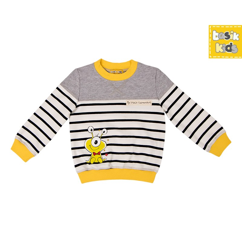 Basik Kids Blouse sweatshirt combination kids clothes children clothing kids letter print sweatshirt