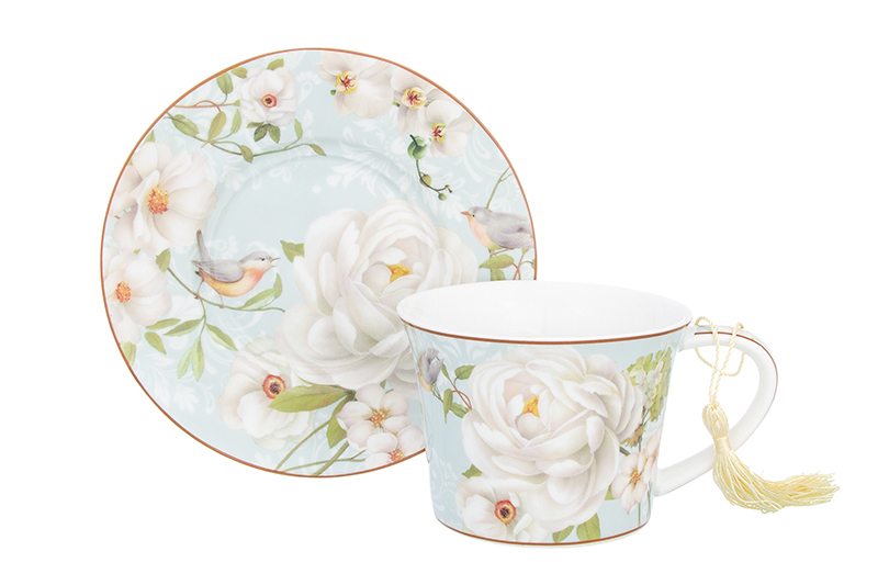 Available from 10.11 Tea pair Wild Rose 2 items Elan Gallery 420192