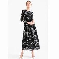 2018 New Fashion Print Dress Shirt Women Clothing Vintage Slim Work Casual Elegant Midi Party Dresses Female Vestidos