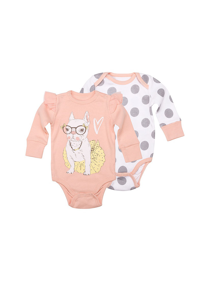 [Available with 10.11] Bodysuit long sleeve (a set of 2 pcs) bodysuit baby long sleeve