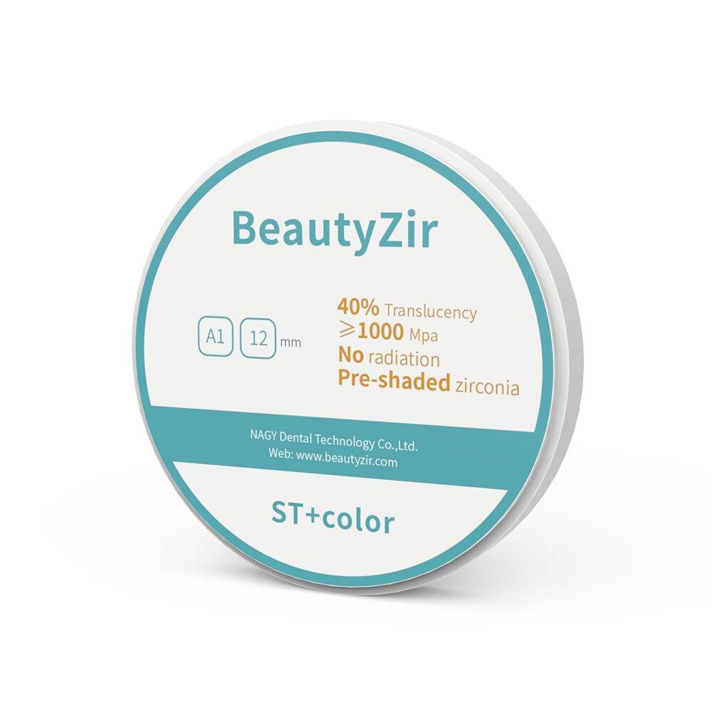 Zircone de laboratoire dentaire pré-ombragée de A1-D4 pour couronne/pont long