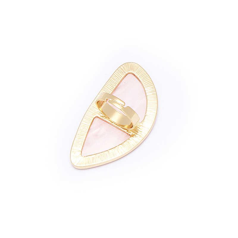 Hot Bohemia Big Acrylic acetate Stone Ring Women Men Punk Exaggerated Trendy Rings Retro Simple Jewelry Adjustable Ring
