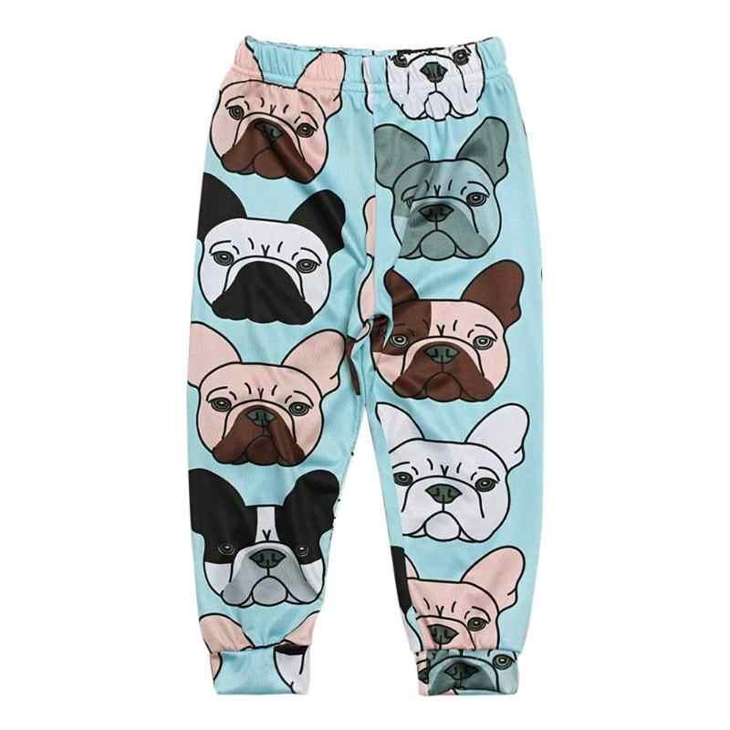 Bebé niños niñas dibujos animados Animal impreso pantalones niños otoño Casual pantalones ropa