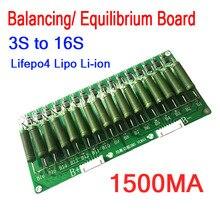 3S   16S גבוהה הנוכחי ליתיום סוללה איזון שיווי משקל לוח 60V 48V 1500ma איזון אקולייזר Lifepo4 ליתיום 13S 10S 7S 4S