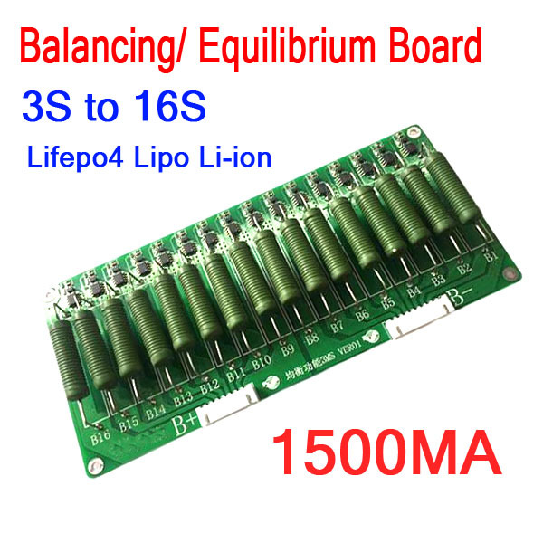 3S   16S High Current Lithium Battery Balance Equilibrium Board 60V 48V 1500ma balancing Equalizer Lifepo4 Li ion 13S 10S 7S 4S
