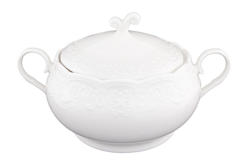 Available from 10.11 Dumpling - tureen 30 * 22.5 * 18 cm. 2.6 l. White pattern + cover Elan Gallery 540162 automatic dumpling gyoza press maker 7 6cm diameter sized