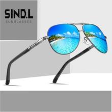 Mens Polarized Sunglasses Driving Glasses UV400 Sun glasses Luxury Designer vintage Alloy Frame 2019 New  SL8725