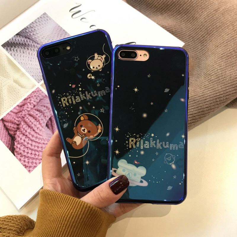 Blu-ray Laser Star Bear Mobile Shell For Iphone X Xs / Soft Shell Iphone6s 7 8 Drop Protector Iphone 6 7 8 Plus Phone Case Discounts Price