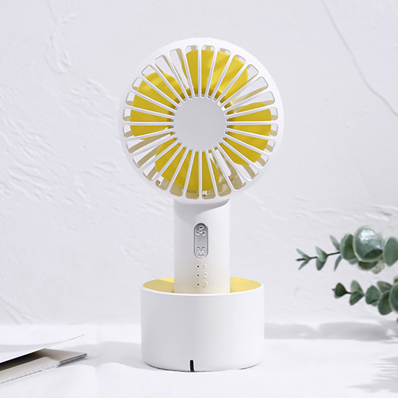 Image 4 - Fan Mini Handheld Desktop Outdoor Silent Portable Bracket Small Fan Usb Charging Fan-in Fans from Consumer Electronics