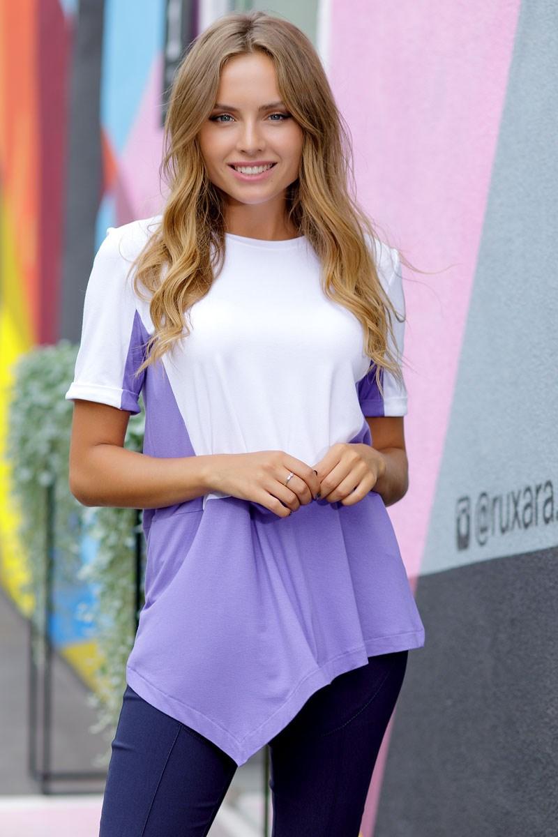 Blouse 1205800-68 off shoulder tie front blouse