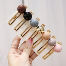 Sale 1PC Korean Creative Candy color Beanie Duckbill clip Women hairpin Sweet girl Resin Colorful Bobby Hair Clip