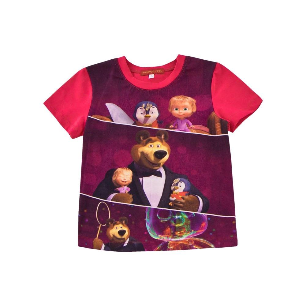 Masha and Bear Shirt T-shirt fuchsia M masha and bear shirt t shirt