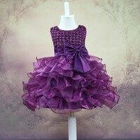 Vestido Infantil Carters Flower Girls Wedding Dress Baby Christening Cake Dresses For Party Occasion Kids 1 Year Girl Birthday