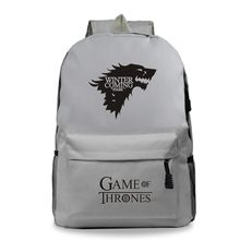 Schoolbag Fashion Game Of Thrones Backpacks Men Sac a Dos Zipper Women Travel Customize Bag Backbag Back to School Mochila Mujer(China)