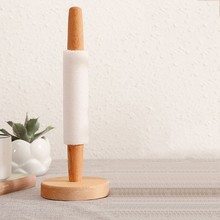 Kitchen Roll Paper Towel Holder Bathroom Tissue Toilet Stand Napkins Rack Table Accessories Beech Wooden Vertical