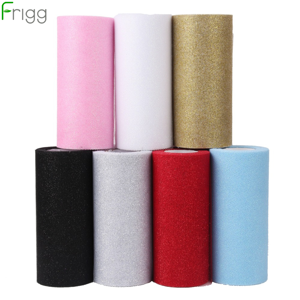 Frigg Gold Wedding Table Runner 25 Yards Glitter Shimmering Tulle Rolls Birthday Party Decorative Table Runner Roll Home Decor