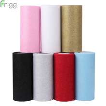 Frigg Gold Wedding Table Runner 25 Yards Glitter Shimmering Tulle Rolls Birthday Party Decorative Roll Home Decor